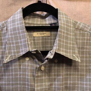 Burberry London Men's Plaid Dress Shirt L